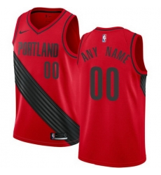 Men Women Youth Toddler All Size Nike NBA Portland Trail Portland Blazers Statement Edition Authentic Customized Alternate Red Jersey
