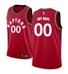 Men Women Youth Toddler All Size Toronto Raptors Nike Red Swingman Custom Icon Edition Jersey