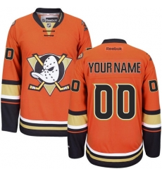 Men Women Youth Toddler Youth Orange Jersey - Customized Reebok Anaheim Ducks Third