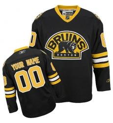Men Women Youth Toddler Youth Black Jersey - Customized Reebok Boston Bruins Third