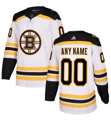 Men Women Youth Toddler Youth White Jersey - Customized Adidas Boston Bruins Away