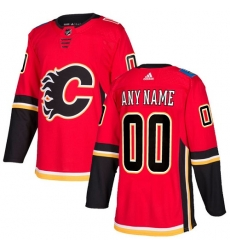 Men Women Youth Toddler Youth Red Jersey - Customized Adidas Calgary Flames Home