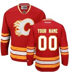 Men Women Youth Toddler Youth Red Jersey - Customized Reebok Calgary Flames Third