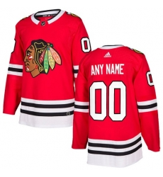 Men Women Youth Toddler Youth Red Jersey - Customized Adidas Chicago Blackhawks Home