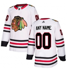 Men Women Youth Toddler Youth White Jersey - Customized Adidas Chicago Blackhawks Away