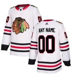 Men Women Youth Toddler Youth White Jersey - Customized Adidas Chicago Blackhawks Away