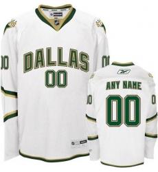 Men Women Youth Toddler White Jersey - Customized Reebok Dallas Stars Third  II