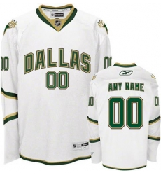 Men Women Youth Toddler Youth White Jersey - Customized Reebok Dallas Stars Third