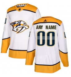 Men Women Youth Toddler Youth White Jersey - Customized Adidas Nashville Predators Away