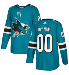 Men Women Youth Toddler Youth Teal Green Jersey - Customized Adidas San Jose Sharks Home