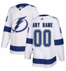 Men Women Youth Toddler Youth White Jersey - Customized Adidas Tampa Bay Lightning Away