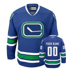 Men Women Youth Toddler Youth Royal Blue Jersey - Customized Reebok Vancouver Canucks New Third