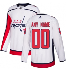 Men Women Youth Toddler Youth White Jersey - Customized Adidas Washington Capitals Away