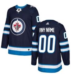 Men Women Youth Toddler Youth Navy Blue Jersey - Customized Adidas Winnipeg Jets Home