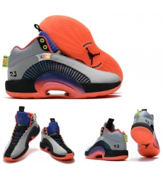Jordan 35 Men Shoes Grey Orange