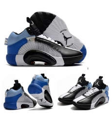 Jordan 35 Men Shoes White Blue Black