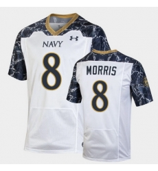 Men Navy Midshipmen Dalen Morris Special Game White Football Jersey