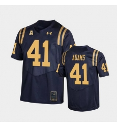 Men Navy Midshipmen Terrell Adams College Football Navy Replica Jersey