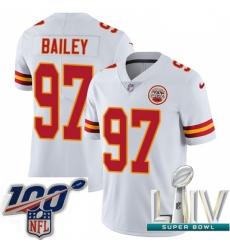 2020 Super Bowl LIV Men Nike Kansas City Chiefs #97 Allen Bailey White Vapor Untouchable Limited Player NFL Jersey