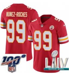 2020 Super Bowl LIV Men Nike Kansas City Chiefs #99 Rakeem Nunez-Roches Red Team Color Vapor Untouchable Limited Player NFL Jersey