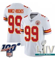 2020 Super Bowl LIV Men Nike Kansas City Chiefs #99 Rakeem Nunez-Roches White Vapor Untouchable Limited Player NFL Jersey