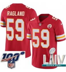 2020 Super Bowl LIV Youth Nike Kansas City Chiefs #59 Reggie Ragland Red Team Color Vapor Untouchable Limited Player NFL Jersey