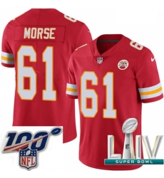 2020 Super Bowl LIV Youth Nike Kansas City Chiefs #61 Mitch Morse Red Team Color Vapor Untouchable Limited Player NFL Jersey