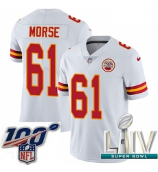 2020 Super Bowl LIV Youth Nike Kansas City Chiefs #61 Mitch Morse White Vapor Untouchable Limited Player NFL Jersey