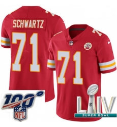 2020 Super Bowl LIV Youth Nike Kansas City Chiefs #71 Mitchell Schwartz Red Team Color Vapor Untouchable Limited Player NFL Jersey