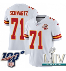 2020 Super Bowl LIV Youth Nike Kansas City Chiefs #71 Mitchell Schwartz White Vapor Untouchable Limited Player NFL Jersey