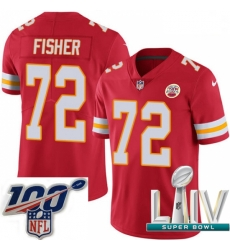 2020 Super Bowl LIV Youth Nike Kansas City Chiefs #72 Eric Fisher Red Team Color Vapor Untouchable Limited Player NFL Jersey