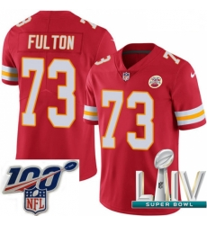 2020 Super Bowl LIV Youth Nike Kansas City Chiefs #73 Zach Fulton Red Team Color Vapor Untouchable Limited Player NFL Jersey