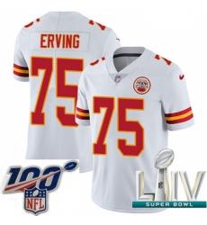 2020 Super Bowl LIV Youth Nike Kansas City Chiefs #75 Cameron Erving White Vapor Untouchable Limited Player NFL Jersey