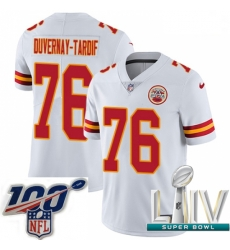 2020 Super Bowl LIV Youth Nike Kansas City Chiefs #76 Laurent Duvernay-Tardif White Vapor Untouchable Limited Player NFL Jersey