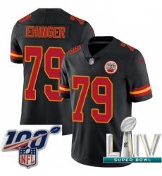2020 Super Bowl LIV Youth Nike Kansas City Chiefs #79 Parker Ehinger Limited Black Rush Vapor Untouchable NFL Jersey