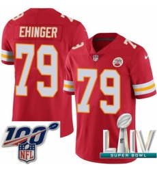 2020 Super Bowl LIV Youth Nike Kansas City Chiefs #79 Parker Ehinger Red Team Color Vapor Untouchable Limited Player NFL Jersey