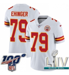 2020 Super Bowl LIV Youth Nike Kansas City Chiefs #79 Parker Ehinger White Vapor Untouchable Limited Player NFL Jersey