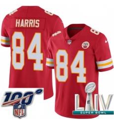 2020 Super Bowl LIV Youth Nike Kansas City Chiefs #84 Demetrius Harris Red Team Color Vapor Untouchable Limited Player NFL Jersey