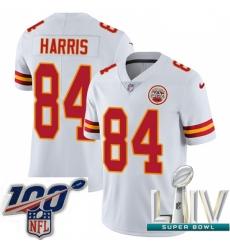2020 Super Bowl LIV Youth Nike Kansas City Chiefs #84 Demetrius Harris White Vapor Untouchable Limited Player NFL Jersey