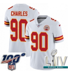 2020 Super Bowl LIV Youth Nike Kansas City Chiefs #90 Stefan Charles White Vapor Untouchable Limited Player NFL Jersey