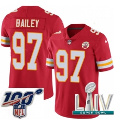 2020 Super Bowl LIV Youth Nike Kansas City Chiefs #97 Allen Bailey Red Team Color Vapor Untouchable Limited Player NFL Jersey