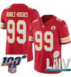 2020 Super Bowl LIV Youth Nike Kansas City Chiefs #99 Rakeem Nunez-Roches Red Team Color Vapor Untouchable Limited Player NFL Jersey