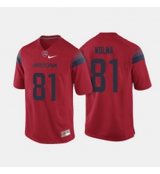 Arizona Wildcats Bryce Wolma College Football Red Jersey
