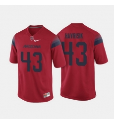 Arizona Wildcats Lucas Havrisik College Football Red Jersey