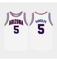 Men Arizona Wildcats Brandon Randolph White College Basketball Jersey