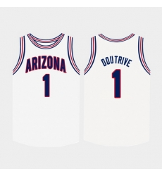 Men Arizona Wildcats Devonaire Doutrive White College Basketball Jersey