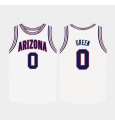 Men Arizona Wildcats Josh Green College Basketball White Jersey