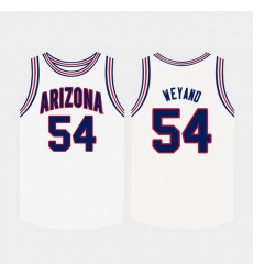 Men Arizona Wildcats Matt Weyand White College Basketball Jersey
