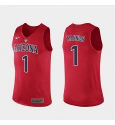 Men Arizona Wildcats Nico Mannion Hyper Elite Authentic Red Performance Jersey