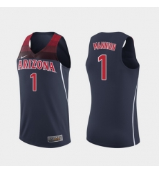 Men Arizona Wildcats Nico Mannion Replica Navy College Basketball Jersey
